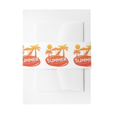 Summer – Live your dream Invitation Belly Band