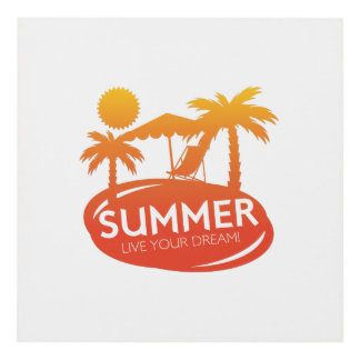 Summer – Live your dream Panel Wall Art