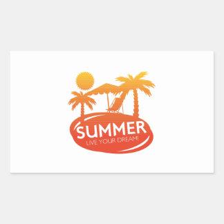Summer – Live your dream Rectangular Sticker