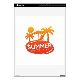 Summer – Live your dream Skin For PS3 Slim