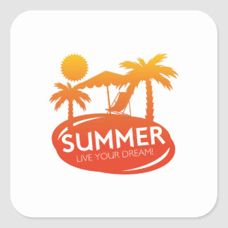 Summer – Live your dream Square Sticker