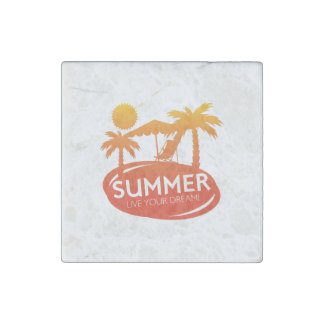 Summer – Live your dream Stone Magnet