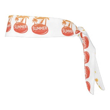 Beach Themed Summer – Live your dream Tie Headband