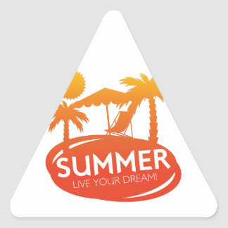 Summer – Live your dream Triangle Sticker