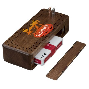 Summer – Live your dream Wood Cribbage Board