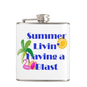 Beach Themed Summer Livin' Flask