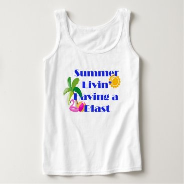 Beach Themed Summer Livin' Tank