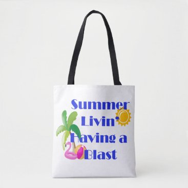 Beach Themed Summer Livin' Tote Bag