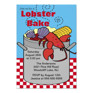 Summer Lobster Bake Cookout Invitation