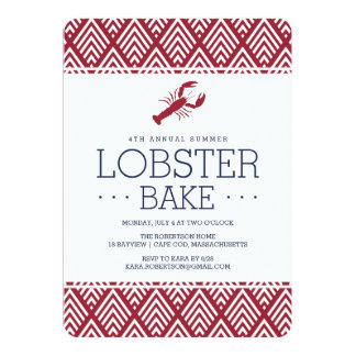 Summer Lobster Bake Party Card