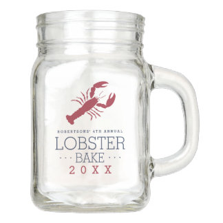 Summer Lobster Bake Party Favor Mason Jar