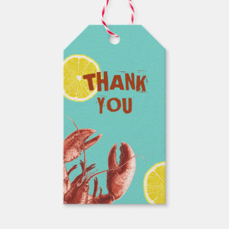 Summer Lobster Boil Party Aqua Gift Tags