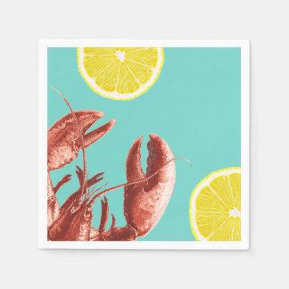 Summer Lobster Boil Party Aqua Napkin