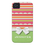 summer lolly scalloped stripes pattern iPhone 4 case