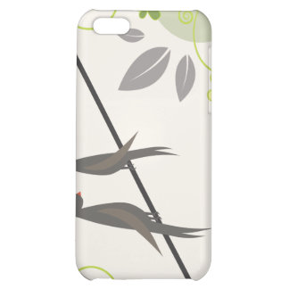 summer love birds and pretty flowers iPhone 5C cover