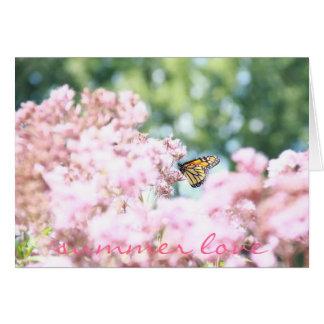 Summer Love Card :: Monarch Butterfly Pink Flowers