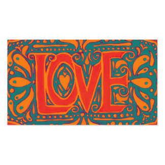 Summer Love Double-Sided Standard Business Cards (Pack Of 100)