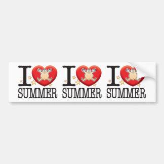 Summer Love Man Car Bumper Sticker
