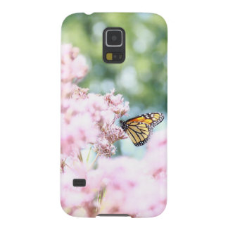 Summer Love :: Monarch Butterfly Pink Flowers Case For Galaxy S5