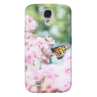 Summer Love :: Monarch Butterfly Pink Flowers Galaxy S4 Cover