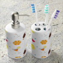 Summer Love Soap Dispenser And Toothbrush Holder