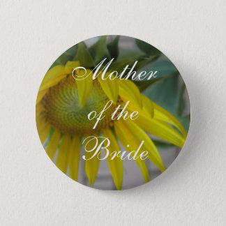 Summer Love Sunflower Pinback Button