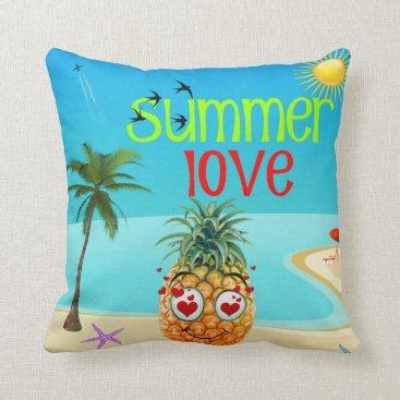 Beach Themed SUMMER LOVE THROW PILLOW
