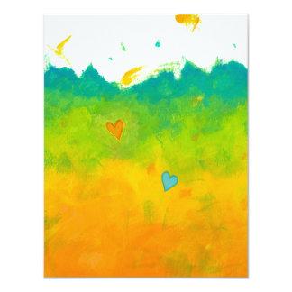 Summer Love unique whimsical modern art thank you Card