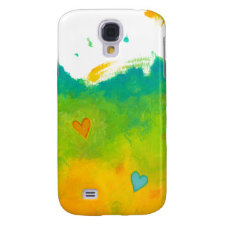Summer Love unique whimsical modern art wedding Samsung Galaxy S4 Cover