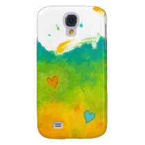 Summer Love unique whimsical modern art wedding Galaxy S4 Case