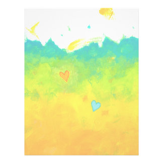 Summer Love unique whimsical modern art wedding Letterhead