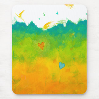Summer Love unique whimsical modern art wedding Mouse Pad