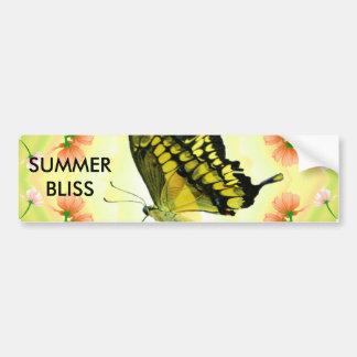 Summer Lover Butterfly Bumper Sticker