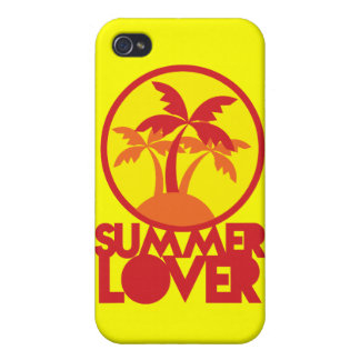 SUMMER LOVER with palm trees Covers For iPhone 4