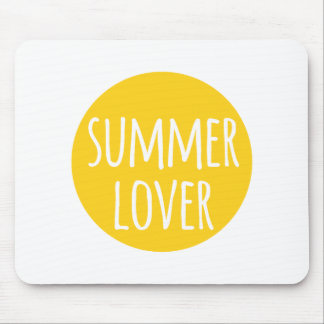 summer lover, word art, text design with sun mouse pad
