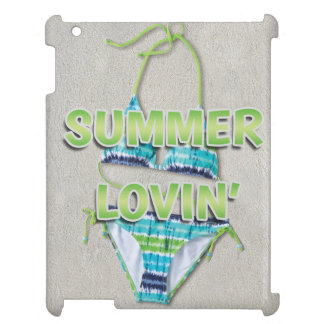 Summer Lovin' Green Teal Bikini White Beach Sand Cover For The iPad