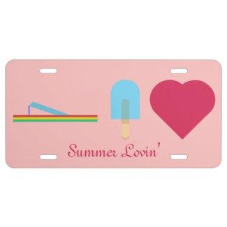 Summer Lovin' License Plate