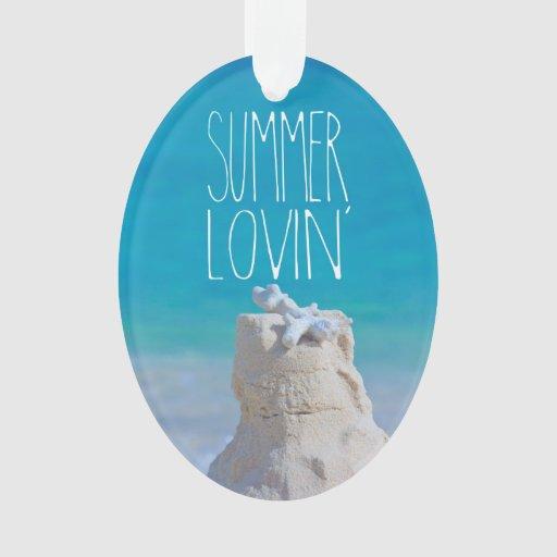 Summer Lovin' White Sandcastle Coral Turquoise Sea