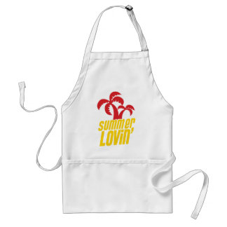Summer Lovin with palm trees Apron