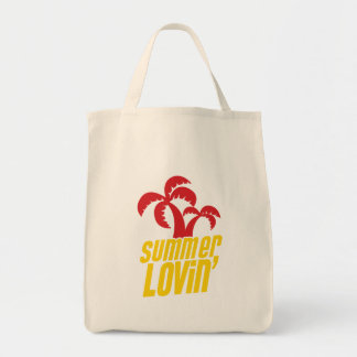 Summer Lovin with palm trees Canvas Bags