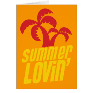 Summer Lovin with palm trees Card