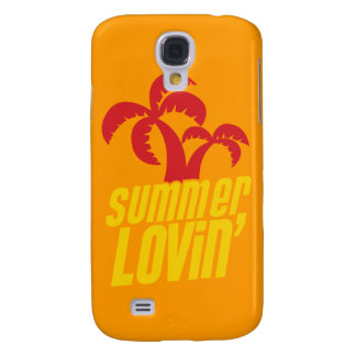 Summer Lovin with palm trees Samsung Galaxy S4 Cases