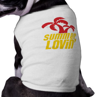 Summer Lovin with palm trees Dog T-shirt