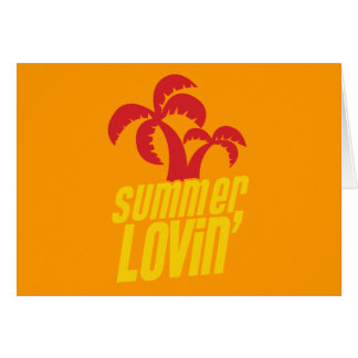 Summer Lovin with palm trees Greeting Cards