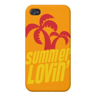 Summer Lovin with palm trees iPhone 4/4S Cases