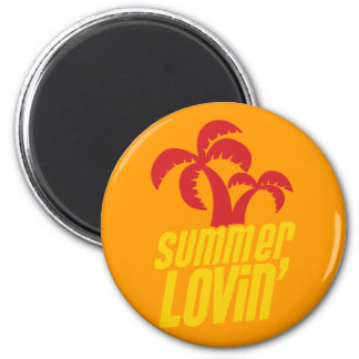 Summer Lovin with palm trees Magnet