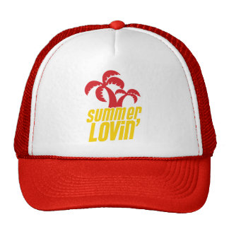 Summer Lovin with palm trees Mesh Hats