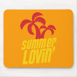 Summer Lovin with palm trees Mouse Pads