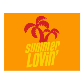 Summer Lovin with palm trees Post Cards