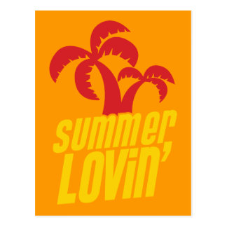 Summer Lovin with palm trees Postcards